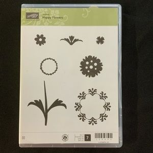 STAMPIN' UP! Happy Flowers Cling Rubber Stamp Set